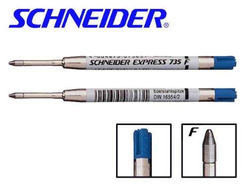 Kugelschreiber-Grossraum- Mine 735 F = fein blau, Liefermenge = 10