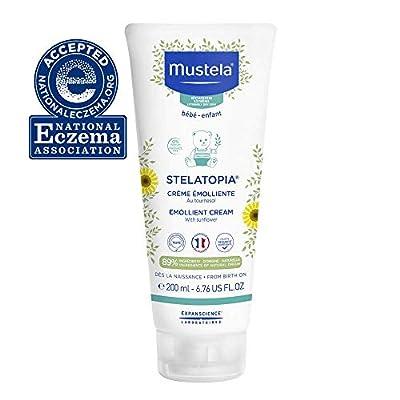 Mustela Stelatopia Emollient Baby Cream - Moisturizing Body Lotion for Eczema-Prone Skin - with Natural Avocado & Sunflower Oil - Fragrance-Free - 6.76 fl. Oz by AmazonUs/EXQEV