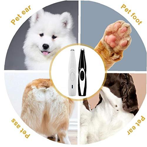 Dorime Hund Katze Pfote Maniküre Trimmer Tool wiederaufladbare Hund Nagellack-USB-Lade Haustier Nagelknipser Mute elektrische