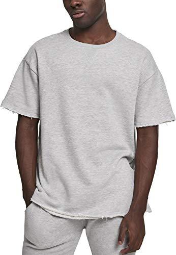 Urban Classics Herren HerirngboneTerry Tee T-Shirt, Grau (Lightgrey 00143), X-Large (Herstellergröße: XL)