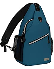 MOSISO Rope Sling Backpack(Tot 13 inch), Waterafstotend Duurzame Multifunctionele Crossbody Borstschouder Outdoor Travel Hiking Daypack