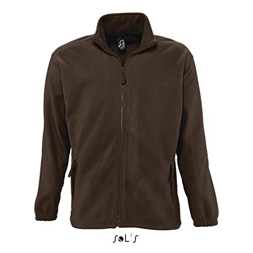 SOL´S - Fleecejacket North XL,Dark Chocolate