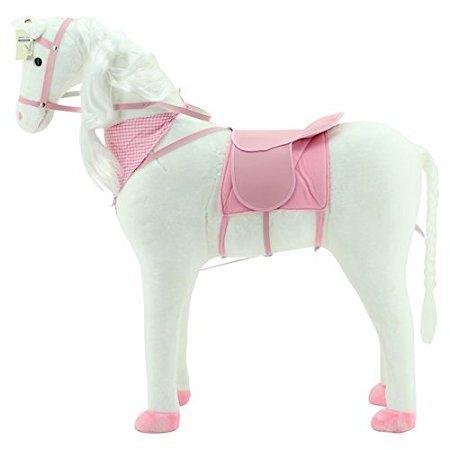 Sweety Toys 10370 Plüsch Pferd XXL Riesen Stehpferd Reitpferd  White Princess Größe ca.105 cm Kopfhöhe bis 80 kg belastbar