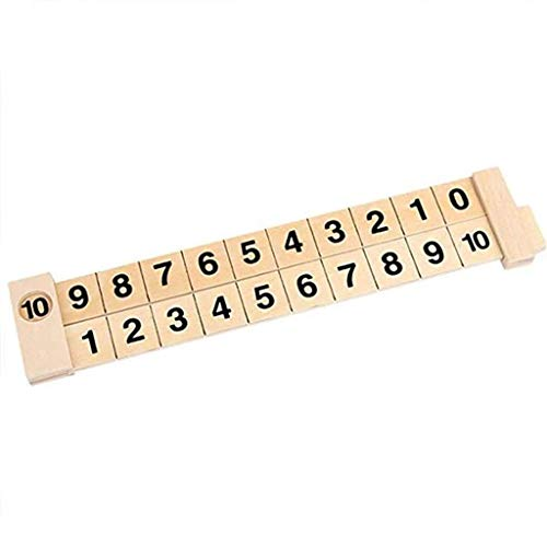 Iusun Wooden Math Arithmetic Decomposition Ruler 1-10 Addition and Subtraction Learning Digital Mathematical Scale Counting Sticks Teaching Early Childhood Education Puzzle Toy (Yellow)