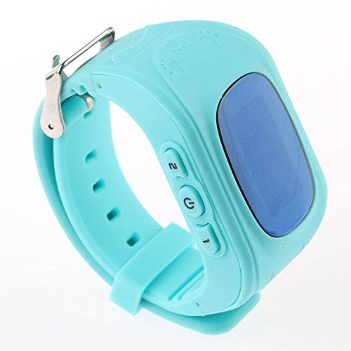 Vanker Smartwatch Q50 enfants avec tracker GPRS pour iOS et Android – -Bleu