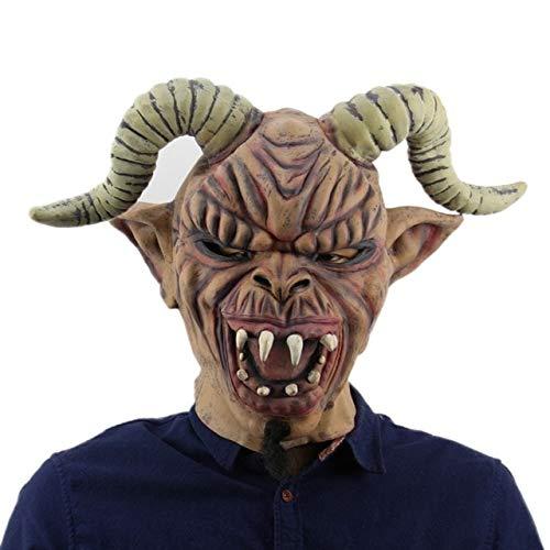 HUANGZHENYIN Maske Cosplay Horror Beängstigend Clown Maske Halloween Latex Maske Party Kostüm Porzellan 29x20cm