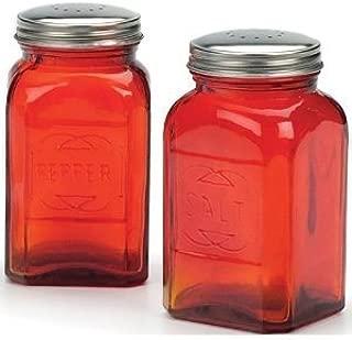 RSVP Retro Red Glass Salt & Pepper Shakers