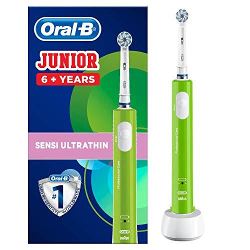 Oral-B Spazzolino Elettrico Ricaricabile Junior Da 6 Anni, Verde