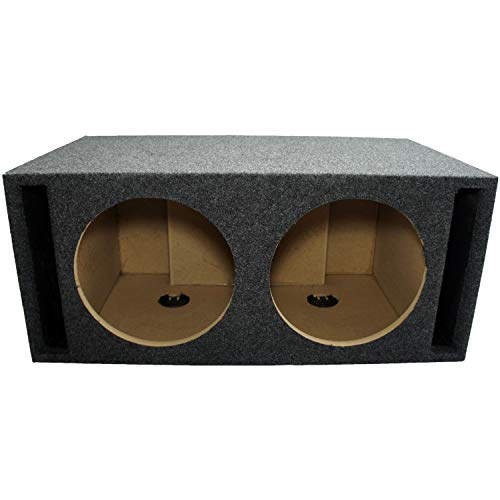 Car Audio Dual 12' SPL Bass Subwoofer Labyrinth Vent Sub Box Stereo Enclosure