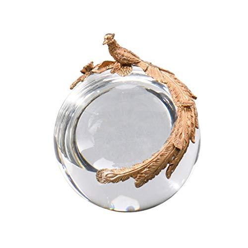 Adivinación con bola de cristal Decoración de la sala de estar, estilo europeo del cobre del oro bola de cristal Crafts Estudio del dormitorio del hogar y otros regalos ideales, Ave Fénix de la vendim