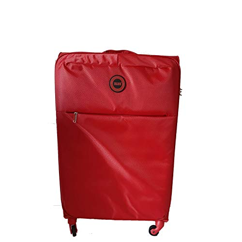 Valigia media Rossa Jaguar leggera 4 ruote Trolley semirigido Rosso Bagaglio 67X42X25 cm