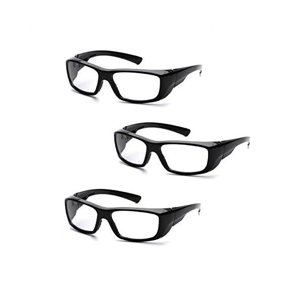 Pyramex Emerge Full Reader Safety Glasses SB7910D15 (3 Pair) (+1.5 Lens, Black Frame/Clear Lens)