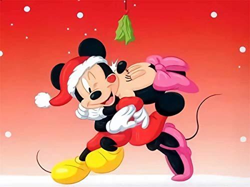 ZHONGYU Mickey Minnie - Kit de pintura de diamantes 5D para manualidades, cuadro de punto de cruz, para adultos, niños, cumpleaños, Navidad, como regalo de casa, 30 x 40 cm