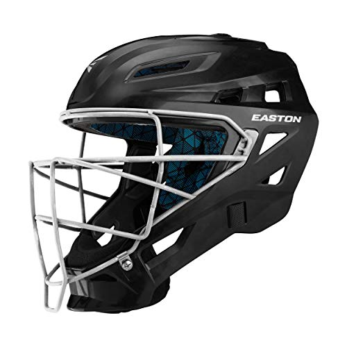 EASTON GAMETIME Baseball Catchers Helmet   Large   Black   2020  High Impact Resistant ABS Shell   Shock Absorbing Foam   Moisture Wicking BIODRI liner   Steel Cage   Ergo Chin Cup   NOCSAE Approved