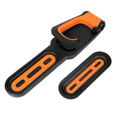 Fahrradclip Wandhalterung Fahrradhalter Fahrradhalterung Haken Platzsparende Wandaufbewahrung Fahrradständer Fahrradträger Aufbewahrungssystem (Orange)