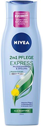 Nivea 2-in-1 Pflege Express Haar-Pflegeshampoo und Spülung in einem, 6er Pack (6 x 250 ml)