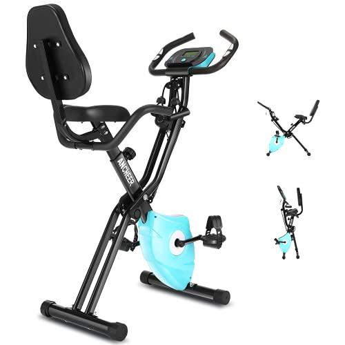 ANCHEER 3-in-1 Heimtrainer Fahrrad,klappbarer Heimtrainer mit App Anbindung,10 verstellbare Widerstandsstufen und Herzmonitor - Perfektes Heimtrainingsgerät für Cardio