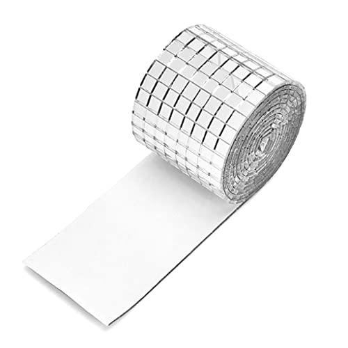 illombo 1464 piezas de acrílico espejos de cristal pegatinas de pared autoadhesivas pequeñas cuadrícula parches para el hogar DIY decoración de manualidades