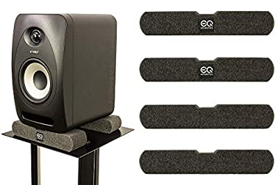 EQ Acoustics Speaker Isolation Pads. Studio Monitor Upgrade Kit for Music Producers and Hi-Fi Enthusiasts. Acoustic Foam Plinths Suitable For Speaker Stands, Desktop and Bookshelf Speakers. Pack of 4. from EQ Acoustics