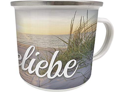 Blechwaren Fabrik Braunschweig GmbH Emaille Becher 0,5 L - OSTSEELIEBE - EB22 Tasse OSTSEE Urlaub Strand Meer