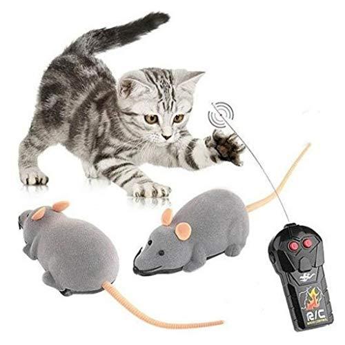 User Luige Katze Elektrisches Spielzeug drahtlose Fernbedienung Simulation Maus mit rosaem Ohr für Katzen Hauier Teasing Spielzeug Spielen