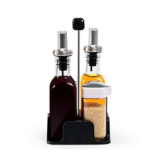Frascos De Especias Frasco De Vidrio De Cocina Botella De Salsa De Soja Botella De Vinagre Gruesa A Prueba De Fugas Botella Sellada Olla De Aceite Tarro De Condimento Combinación 5 Juegos Multiusos