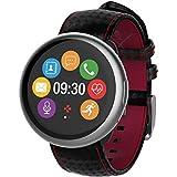 MyKronoz ZeRo& verbindet die Premium-Uhr aus Carbon-Silber mit schwarzem Band, Norme