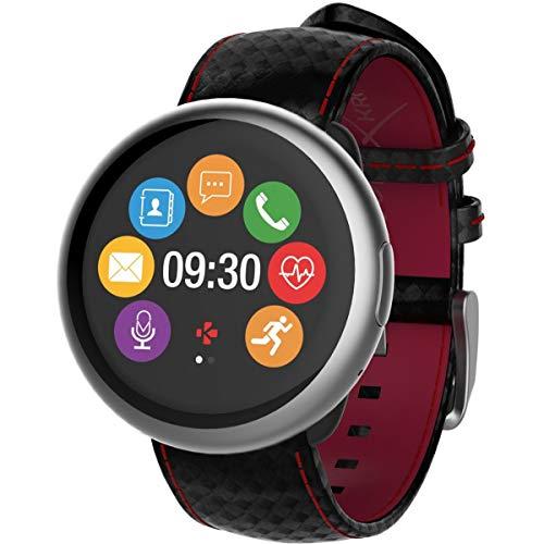 "MyKronoz ZeRound2 HR Premium Reloj Inteligente Negro, Rojo TFT 3,1 cm (1.22"") - Relojes Inteligentes (3,1 cm (1.22""), TFT, Pantalla táctil, 72 h, 53 g, Negro, Rojo)"