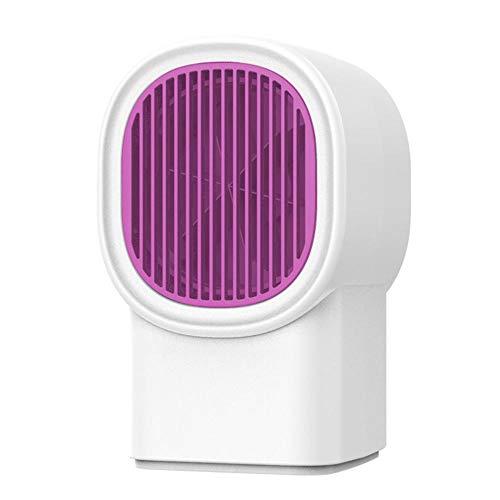 Bdlhx Calentador Portátil de Mesa, Mini Calefactor Eléctrico Ahorro de Energía Bajo Consumo 3s Calor Rápido Anti-Quemaduras Calentador de Espacio Portátil Personal para Hogar y Oficina-Blanco