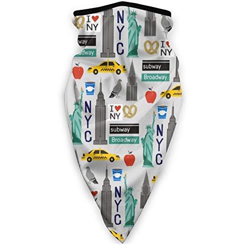 Viajes turísticos EE.UU. Nueva York Pasamontañas máscara de media cara máscara de esquí bucle a prueba de viento para bicicleta motocicleta deportes al aire libre lavable reutilizable