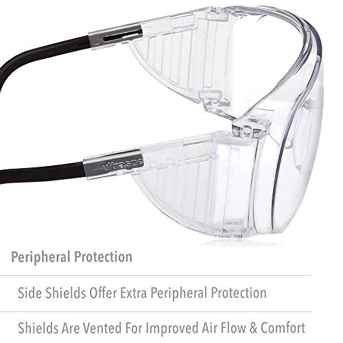 Uvex Ultra-Spec 2000 Visitor Specs Safety Glasses with Clear Uvextreme Anti-Fog Lens (S0250X)
