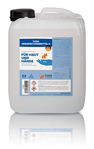 TUGA DESINFEKTIONSMITTEL H | Haut + Hand Schnelldesinfektion mit Rückfetter | Made in Germany | 5000ml