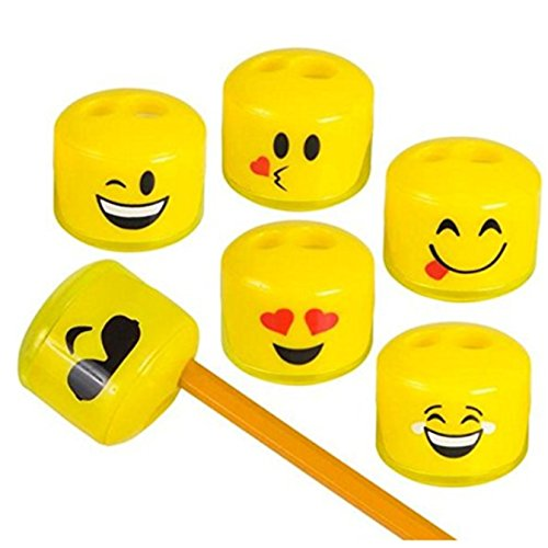 Play Kreative Emoji Pencil and Crayon Sharpeners 24 Pack