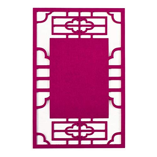 Esshangmao. Hzz-Stereo Bunte Dekoration Material Thick Non-Woven Hintergrund Pad, 23.5x36cm (Color : Rose Red)