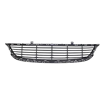 Perfit Liner New Front Black Plastic Bumper Grille Grill 15-17 Compatible With CHRYSLER 200 Fits LX LIMT Model CH1036134 68202988AC