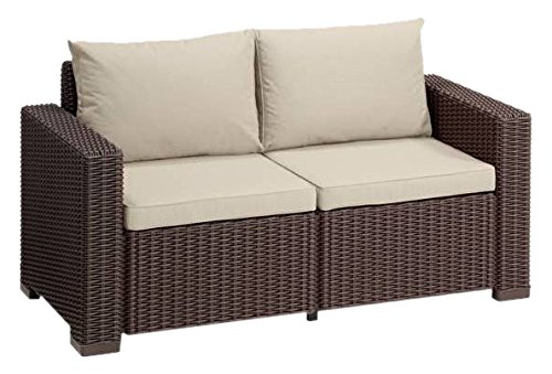 Allibert Lounge Sofa California 2-Sitzer, braun/panama taupe