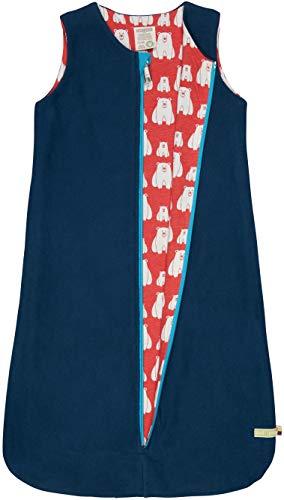 loud + proud Kinder-Unisex Wendeschlafsack Fleece Baby- und Kleinkind-Schlafanzüge, Ultramarin, 98/104