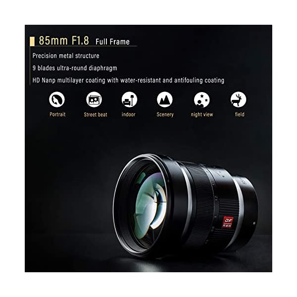 RetinaPix VILTROX 85mm F1.8 Lens Full Frame Manual Focus Medium Telephoto Portrait Prime Lens for Sony E Mount A9 A7R3 A7R2 A7M3 A7M2 A7S2 A6500 A6300 A6000