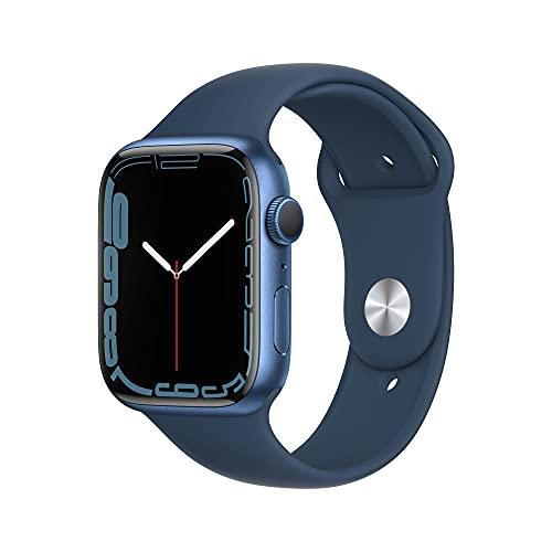 AppleWatch Series7 (GPS) - Caja de Aluminio en Azul de 45mm - Correa Deportiva en Color Abismo - Talla única