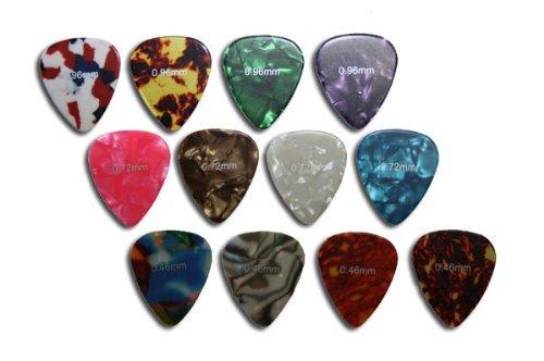Snner 12 x Rockpicks Plektren für Gitarren und Bass 3 Verschiedene Stärken