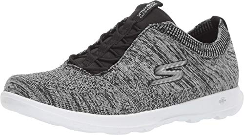 Skechers Women's GO Walk LITE - 15657 Shoe, Black/White, 9.5 M US