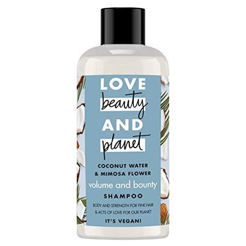 Love Beauty and Planet Volume & Bounty Champú agua de coco & flor de mimosa 100ml - Pack de 12