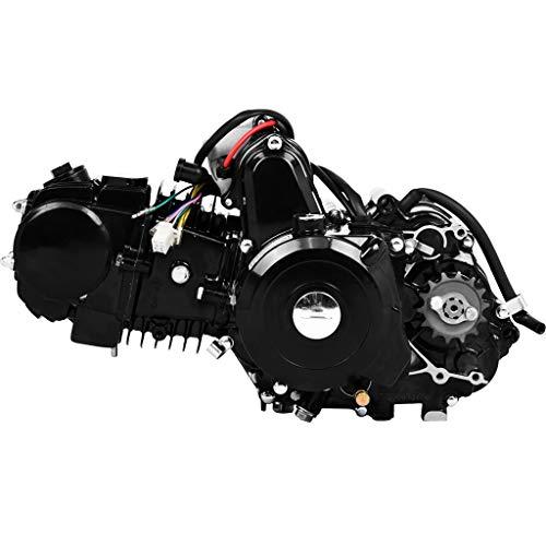 Fiudx Engine Motor,125cc 4 Stroke ATV Engine Motor Semi Auto Electric Start Engine Motor