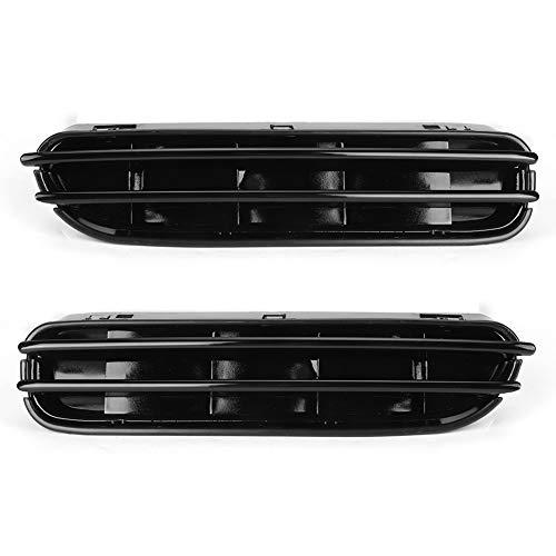 2 rejillas de ventilación de flujo de aire de rejilla de guardabarros laterales desmontables de color negro brillante para E60 E61 M5 2006-2010, negro brillante