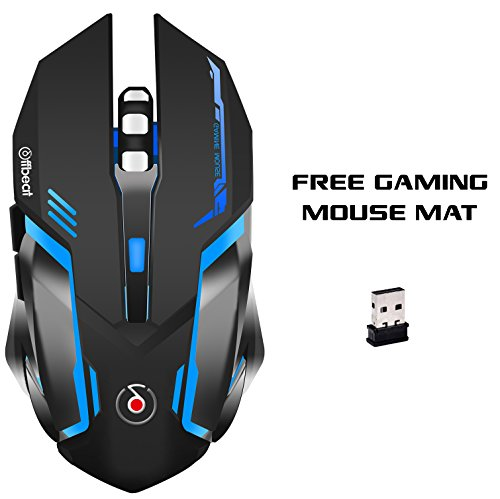 Offbeat RIPJAW 2.4Ghz Rechargeable Wireless Gaming Mouse - 7D Buttons, DPI : 1600,2400,3200, Mice for PC Laptop (with Mouse Pad)