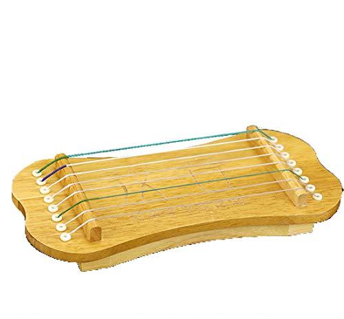 N /A Guzheng, 8 Streicher, Mini Guzheng, Guzheng Finger Trainer mit Zubehör, Protable, Größe: 27 × 12 cm, Geeignet for Anfänger, Erwachsene, Kinder