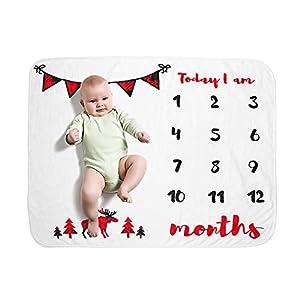 Decdeal Bebé Manta Mensual Hito Franela como Fondo Fotográfico para Bebé Recién Nacido 28 * 41 Pulgadas