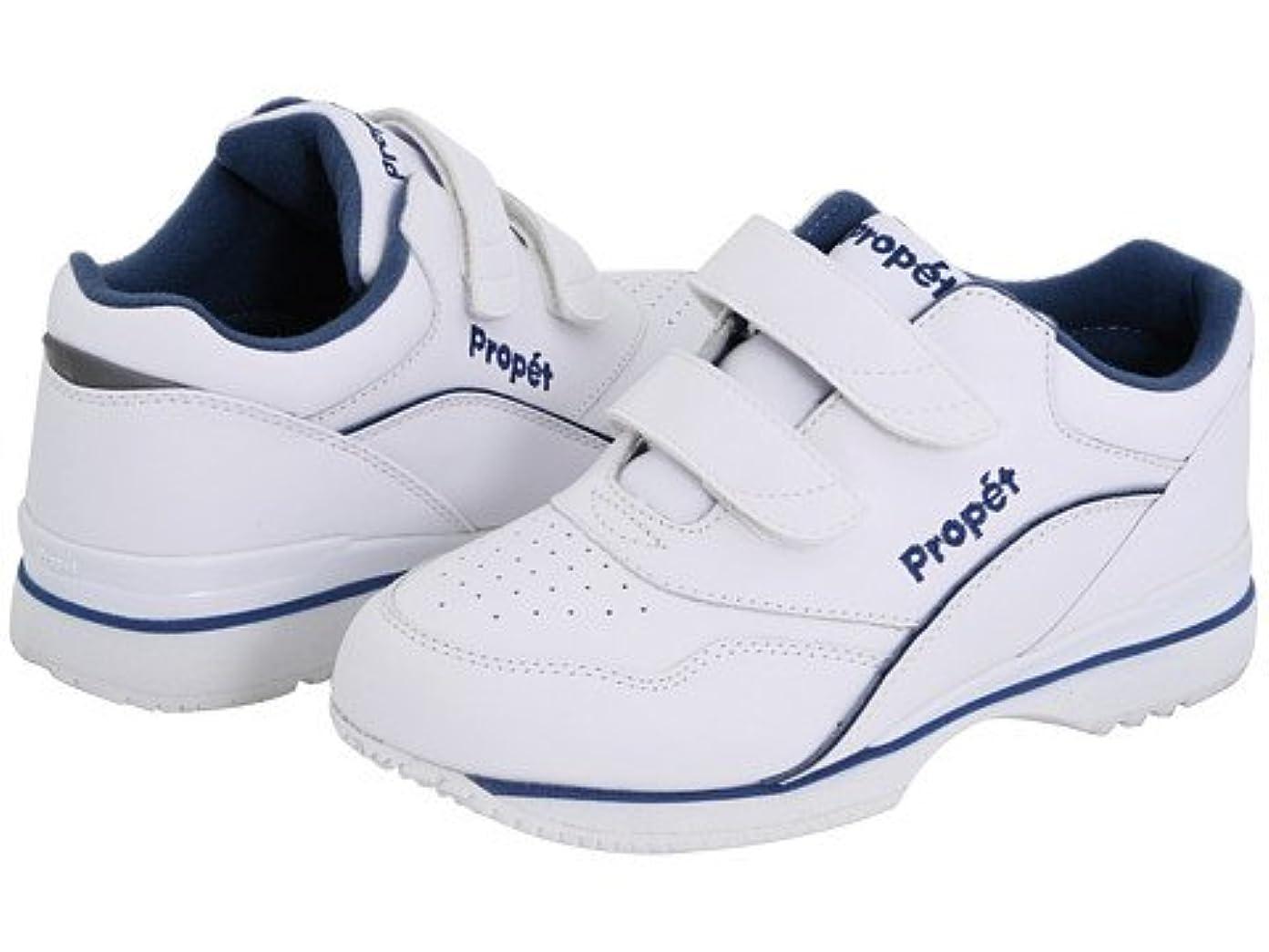 モール折り目ハロウィン(プロペット) Propet レディースウォーキングシューズ?カジュアルスニーカー?靴 Tour Walker Medicare/HCPCS Code = A5500 Diabetic Shoe White/Blue 6 23cm W (D) [並行輸入品]