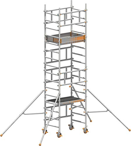 Rollgerüst Layher Solo Tower - 5,15 m - Alu-Gerüst 0,75 x 1,13 m - Ein-Mann-Gerüst