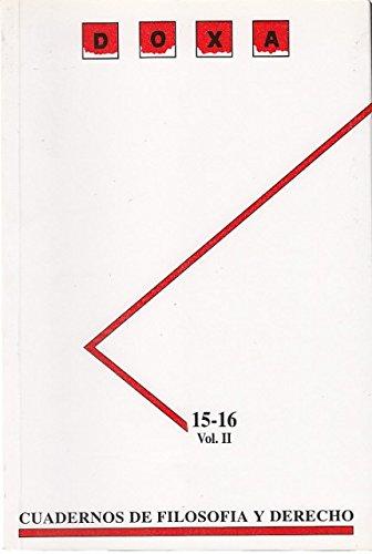 DOXA. Nº 15-16. Vol. II